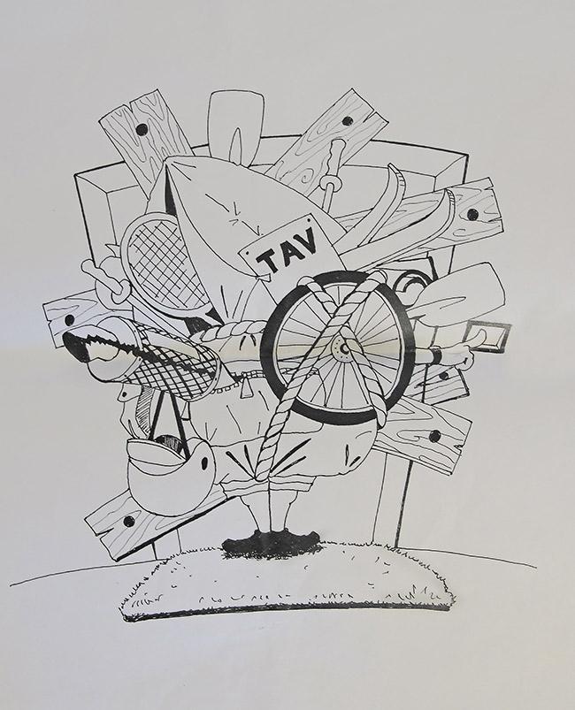 Papiro di laurea - Caricatura di Luca Tavian