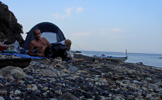 Luca Tavian giro dell' Isola d'Elba in kayak