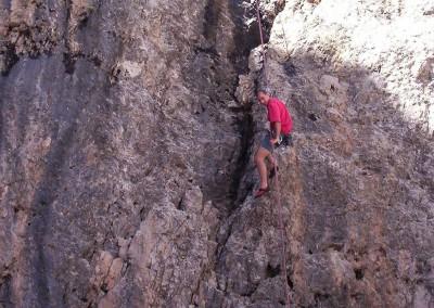 Luca Tavian climbing arrampicata sportiva
