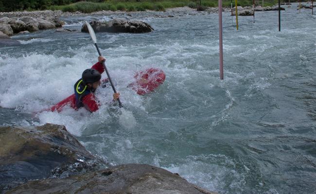 Luca Tavian kayak Valstagna