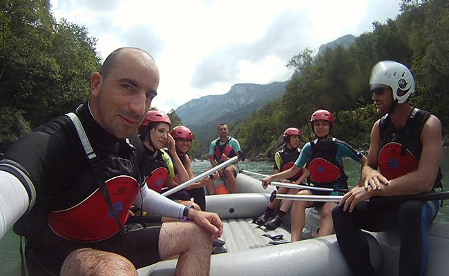 Luca Tavian rafting Tara Montenegro