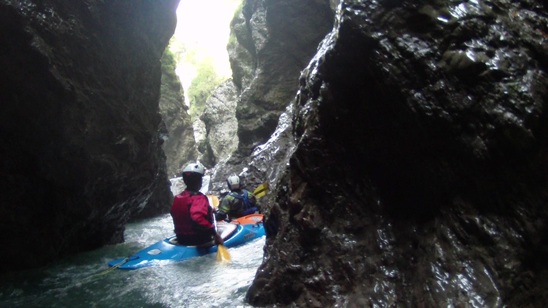 Kayaker nelle Gole del Maè