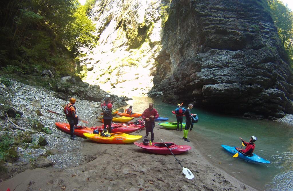 Imbarco Gole del Maè in kayak