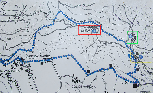 Mappa Canyoning Brent de l'Art