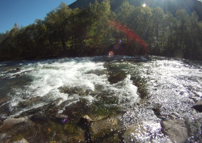 Prima-rapida-in-kayak-del-fiume-Drava-Drau