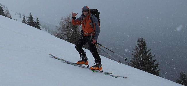 Luca Tavian-scialpinismo in Alpago Cima Vacche
