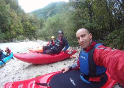 Imbarco-kayak-fiume-Koritnica