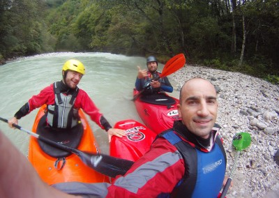 Kayaking-Koritnica-river-Slovenia